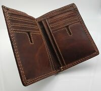 AG Wallets Leather Bifold Wallet Slim Vintage Credit Card ID Holder Minimalist