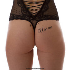 """2 """"Use me"""" Tattoo Schriftzug in schwarz - Sexy Kinky Submissive Tattoo Lettering"""