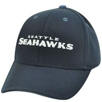 NFL SEATTLE SEAHAWKS FLEXFIT OSFA NAVY BLUE HAT CAP NEW
