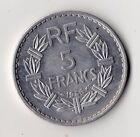 TOP QUALITE MONNAIE DE 5 FRANC LAVRILLIER ALU DE 1946 B @ BEAUMONT LE ROGER !!