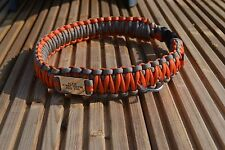Paracord Dog Collar With Engraved Name Tag - King Cobra