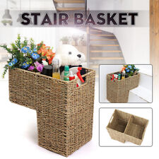 Wicker Rattan Handwoven Seagrass Stair Step Basket Key Holder Shoe 40x20x42cm