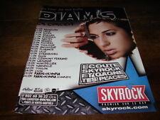 DIAM'S - PUBLICITE DATES CONCERT !!! SKYROCK !!!!!!!!!