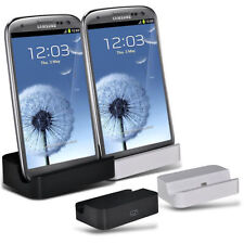Kit DOCK RICARICA SUPPORTO per SAMSUNG GALAXY S3 i9300 CARICA USB MICRO DESKTOP