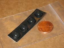 8x 3M DOT DOME PAD CIRCLE FEET 3/8inD x 3/16inH BLACK 10mmx5mm BUMPON NOSKID POD
