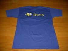 NEW WT BURLINGTON BEES BLUE T-SHIRT YOUTH BOYS L 14/16 MINOR  BASEBALL MAJESTIC