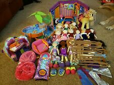 Groovy Girls Huge Lot Dolls + Clothes + Horse + Cafe + Furniture + Pool + House