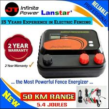 The Most Powerful 50km 5.4J Electric Electric Fence Charger+Bonus Fence Tester