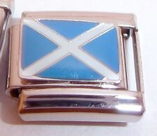 SCOTTISH FLAG Italian Charm - fits 9mm Classic Bracelets I Love Scotland Saltire