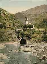 Lago Maggiore. Canobbio. Orrido di Sant' Anna. PZ vintage photochromie, photochr