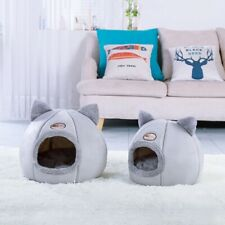 Pet Puppy Nest Cat Sleeping Bed Dog Basket House Kennel Warm Cushion Cave M/L