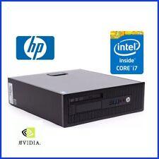 HP ELITEDESK 800 G1 INTEL i7 - 4770 @ 3.4GHZ 8GB 500GB HDD DVDRW WIN10 NVIDIA