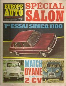 EUROPE AUTO 1967 8 BMW 1600 LOTUS EUROPE SIMCA 1100 NSU RO80 CITROEN DYANE BRABH