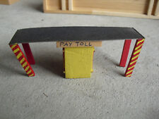 Vintage HO Scale Handmade Wood Cardboard Highway Toll Booth Station