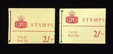 Great Britain / Gpo Stitched Stamp Booklets Complete / Unused 2 pc Lot A