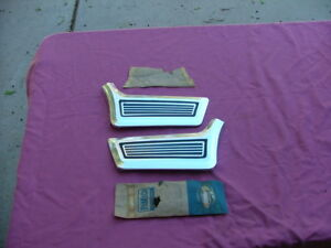 1967 Ford Galaxie lower front fender mouldings, LH and RH, NOS! 500, XL