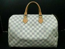 Auth LOUIS VUITTON Damier Azur Speedy 35 N41369 Boston Bag PVC Leather 86897