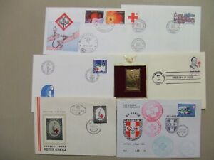 Six RED CROSS and MEDICAL fdc