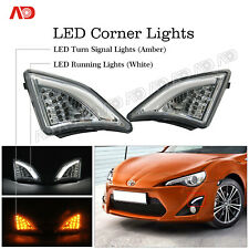 For 2013- Toyota GT86 Scion FR-S LED Corner Lamp Turn Signal Light Clear 2PCS