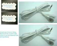 OMRON AND TENS COMPATIBLE 3.5mm LEAD CONVERTOR CABLES (2) w/10 MASSAGE PADS