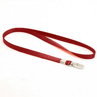 Business ID Badge Card Holder Lanyard Durable Nylon Neck Strap Solid Color Rope