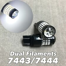 Front Turn Signal Parking 6K White CANBUS SMD LED Bulb T20 7443 7444 SRCK W1 JAE