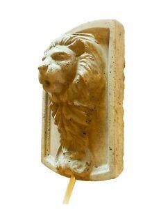 Lion Head Concrete Sculpture Plaque Wall Fountain Relief Spout (With water pump)
