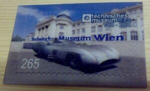 Mercedes W196 Stromlinie 3D Briefmarke tech.Museum Wien