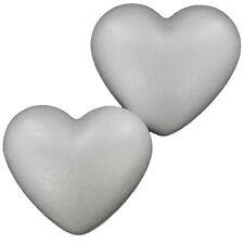 6pc DIY White Heart Shape Polystyrene Foam Model Craft Valentine's Day Art