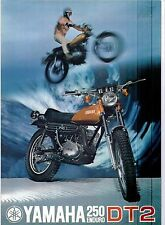 1972 Yamaha 250 Single Enduro DT2 factory original sales brochure(Reprint) $9.00