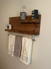 "Modern 2 Tier 18"" Bathroom Towel bar with Shelf"