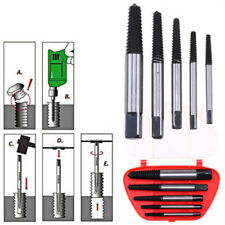 5X Screw Extractor Set Drill Bits Broken Damaged Bolt Remover Accessories Kit SP
