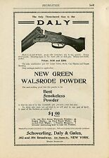 1900 Daly Three Barrel Gun Ad Shotgun Hunting Shooting New Green Walsrode Powder