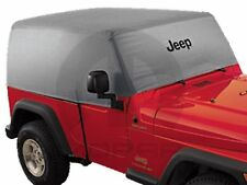 Jeep Wrangler 4 door Silver Heat Reflective Cab Cover with Black Jeep Logo.