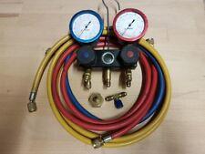 Fischer Manometerbatterie Kältetechnik Füllarmatur R134a R404A Klimaanlage