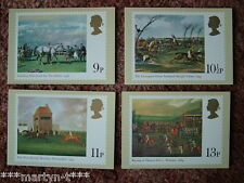 PHQ Stamp card set No 36 Horse Racing 1979. 4 card set  Mint Condition