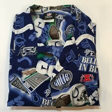 Indianapolis Colts Button Front Hawaiian Style Shirt Men's XL 100% Rayon