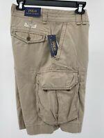 "Polo Ralph Lauren Men's Cargo Shorts Size 32 Hudson Tan Khaki Chino 10"" Inseam"