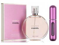 Chanel Chance Eau Vive - Eau de Toilette - For Her 5ml Refillable Spray + Pouch