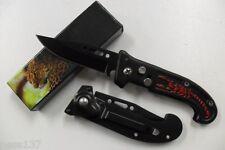 Petit Couteau Pliant de Poche Lame Acier 6,5 cm Manche Acier Gravé 8,5cm Outdoor