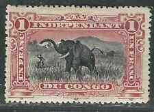 (Belgian) Congo Indep. State Stamps 25 1Fr Carmine & Black MHR VF 1901 SCV $425