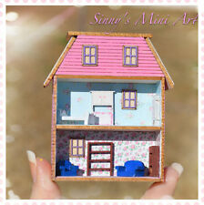 1:144 DIY Dollhouse miniature laser cut house kit/ Miniature Kit/Dollhouse FS435