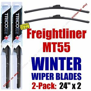 WINTER Wiper Blades 2pk Premium fit 1999-2007 Freightliner MT55 - 35240x2