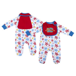 Newborn Baby Boys Super Hero Sleepsuit One Piece Comic Book Sizes 3-6 Months UK