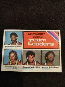 1975 Topps Milwaukee Bucks team leaders Kareem Abdul-Jabbar #126 EX+