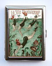 Art Deco Swimmers La Vie Parisienne Flapper Cigarette Case id case Wallet