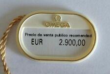 Vintage OMEGA White Hang Tag Sello 84988990 WATCH - MOVEMENT 2500