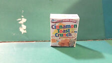 Barbie 1:6 Kitchen Food Miniature Handmade Box of Cereal Cinnamon Toast Crunch