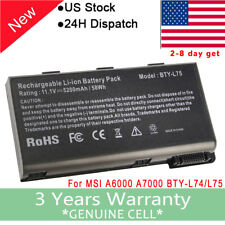 New Laptop Battery for MSI A5000 A6000 A6200 A7000 CR500 CR600 BTY-L74 BTY-L75
