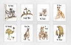 Купить Set of 8 Australian Animal Quote Prints -watercolour nursery, neutral nursery